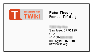 Experimental business card with 'T' logo