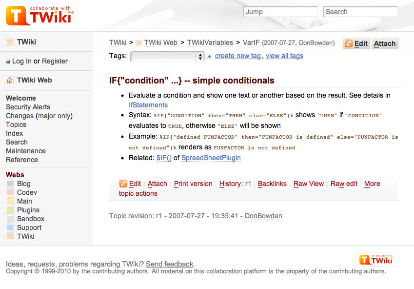 Twiki Plugins