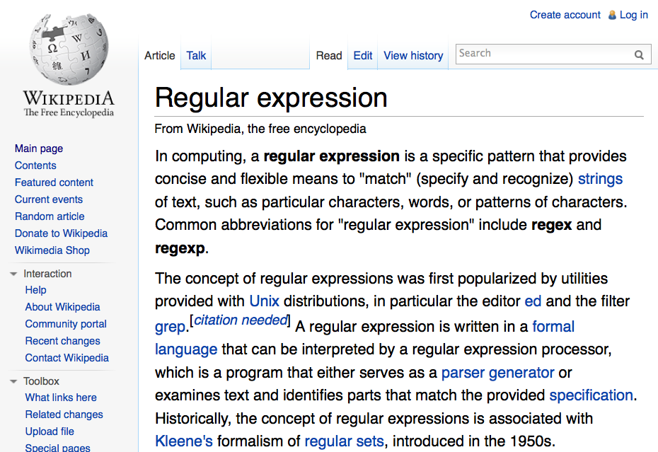 Presentation: Regular Expressions, To Match Or Not, That is the